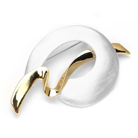 Mariell Gold/Silver High Fashion Two-tone Abstract 3720p Brooch/Pin