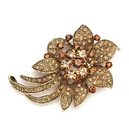 Mariell Light Colorado Topaz Floral Special Occasion Pin 3728p-lc