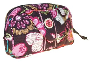Vera Bradley Vera Bradley Brown Pink Red White Flowers 7x4