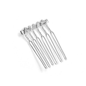 Mariell Silver Comb Adapter For Brooches - 3/4
