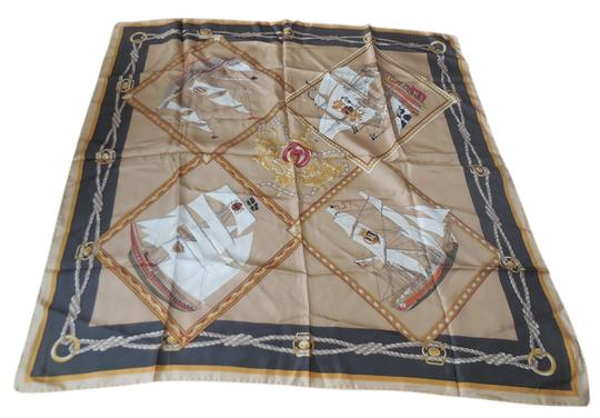 Preload https://item4.tradesy.com/images/talbots-light-and-dark-brown-silk-nautical-by-scarfwrap-3570193-0-0.jpg?width=440&height=440