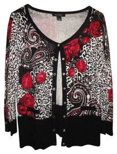 White House | Black Market Button Down Shirt Paisley and leopard