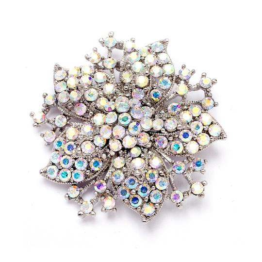 Mariell Vintage Ab Jeweled Wedding Or Prom Pin 4243p