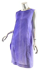 Marni short dress Purple Silk on Tradesy