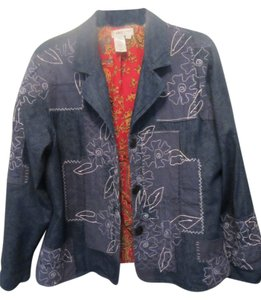 Coldwater Creek blue with print Blazer