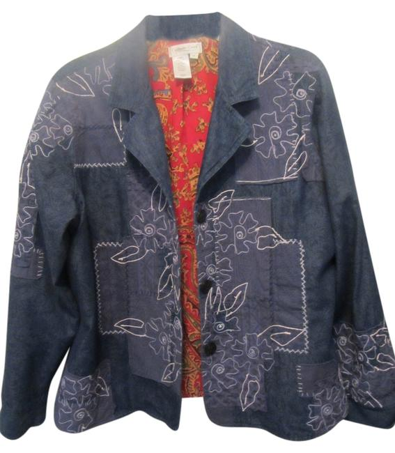 Preload https://item5.tradesy.com/images/coldwater-creek-blue-with-print-none-blazer-size-16-xl-plus-0x-3570454-0-0.jpg?width=400&height=650