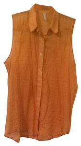 American Apparel Button Down Shirt Burnt Orange
