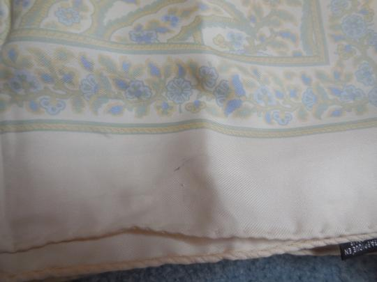 Talbots Talbots Silk Cream with Blue and Green Paisley Scarf