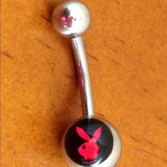 Other Red on Black Playboy Bunny Belly Navel Ring