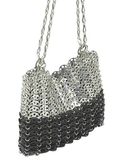 Preload https://item4.tradesy.com/images/other-metallic-chain-two-tone-shoulder-bag-black-gray-grey-3570958-0-0.jpg?width=440&height=440