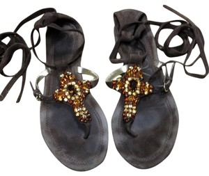 Apepazza Dk Brown/Jewels Gold&Amber Tones Flats