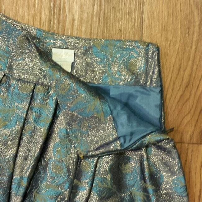 Tracy Reese Brocade Luxe Girly Skirt Blue Brocade