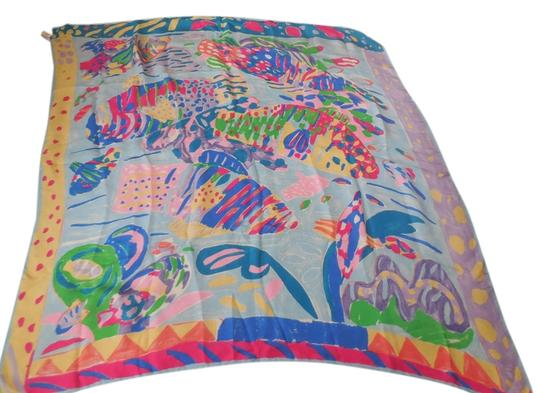 Talbots Talbots Silk Scarf with Tropical Fish