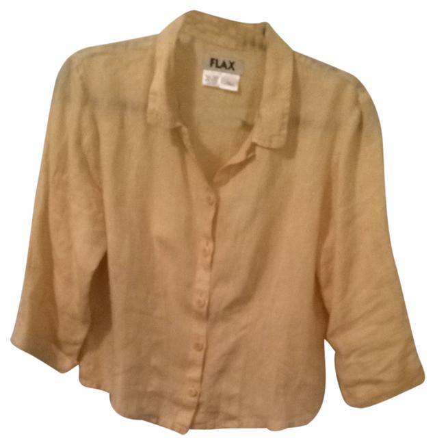 FLAX Button Down Shirt Butter