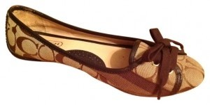 Coach Brown multi Flats