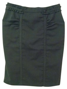 Essentials by ABS Pencil Work Wear Skirt Gray