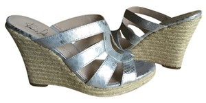 Franco Sarto Metallic silver Wedges