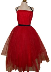 Vintage Tulle Strapless Dress