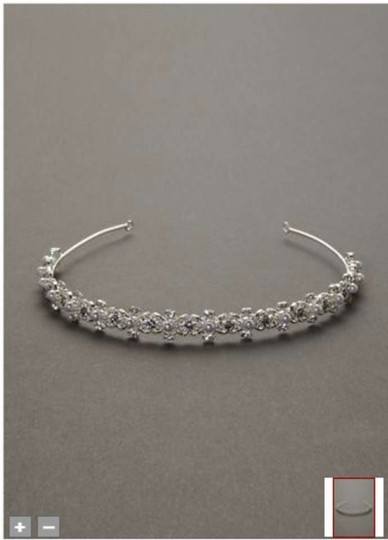 David's Bridal Crystal Pearl Thin Headband Hair Accessory