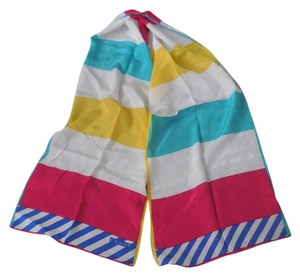 Echo Striped Silk Scarf