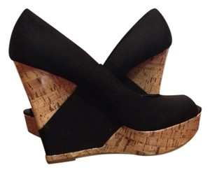 Mossimo Supply Co. Black & Cork Wedges