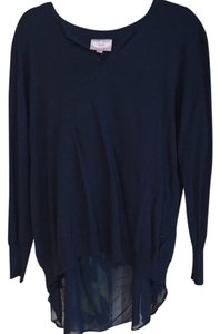 Romeo & Juliet Couture Cotton Rayon Navy Sweater