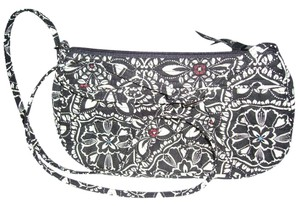 Vera Bradley Satchel in Black and white and blue and red