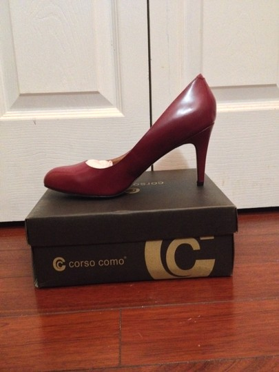 Corso Como Leather Wine Pumps