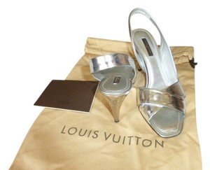 Louis Vuitton silver Mules