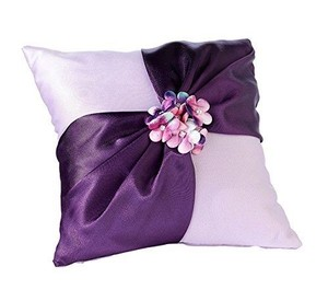 Lillian Rose Purple Radiant Themed Wedding Ring Bearer Pillow