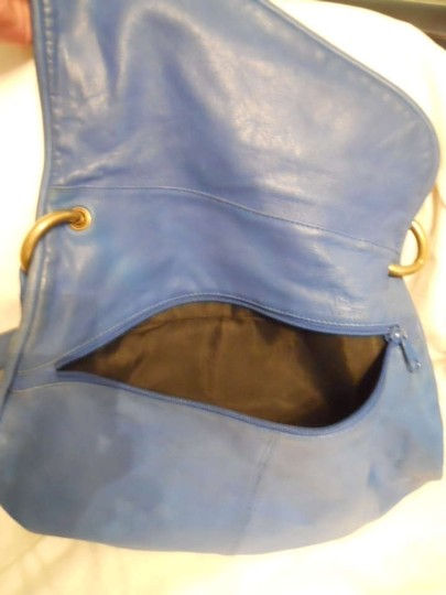 Bloomingdales Leather Vintage Shoulder Hobo Bag
