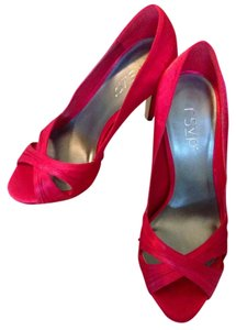 RSVP Red Satin Pumps