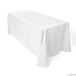 Tablecloths Factory White 4-90 X 132 Cloth Polyester