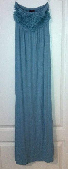 Light Green Maxi Dress by Even Maxi Knit Long