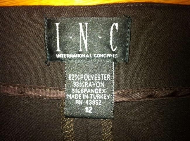 INC International Concepts Bow Ankle Capris Brown