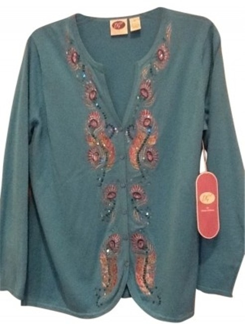 Preload https://item2.tradesy.com/images/dg2-by-diane-gilman-turquoise-beaded-cardigan-size-20-plus-1x-35796-0-0.jpg?width=400&height=650