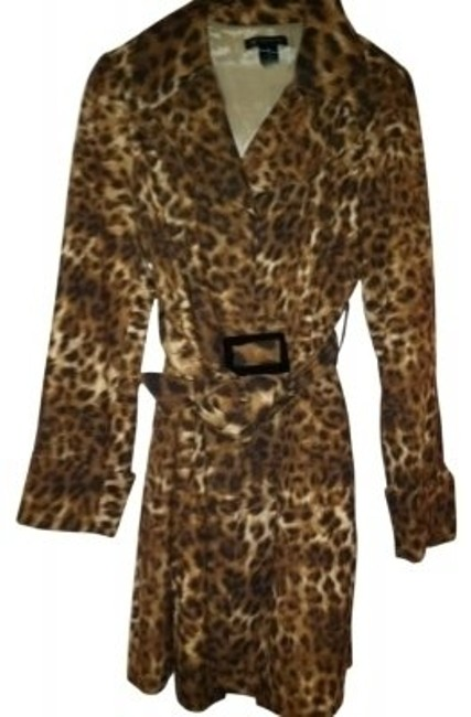 INC International Concepts Trench Leopard Jacket