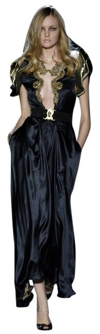Roberto Cavalli 2006 Gold Dragon Red Carpet Couture Evening Gown Maxi 4 6 S Rare Runway Dress