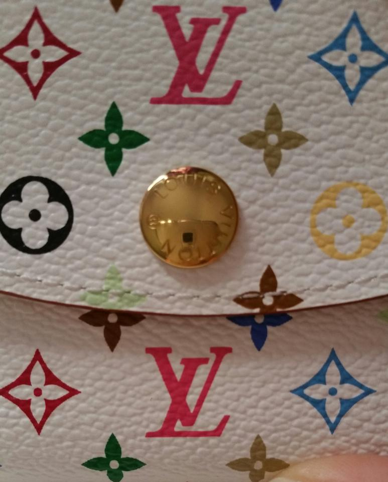 Louis Vuitton White Multicolor Business Card Holder Wallet - Tradesy
