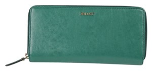 Bally * Bally New Emerald Calf Embossed Wallet