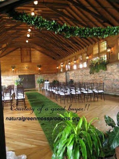 Made To Order..4'x20' Moss Runner Aisle Ceremony Church Floral Decorations Outdoor Green Woodsey Themed Venue Woodland