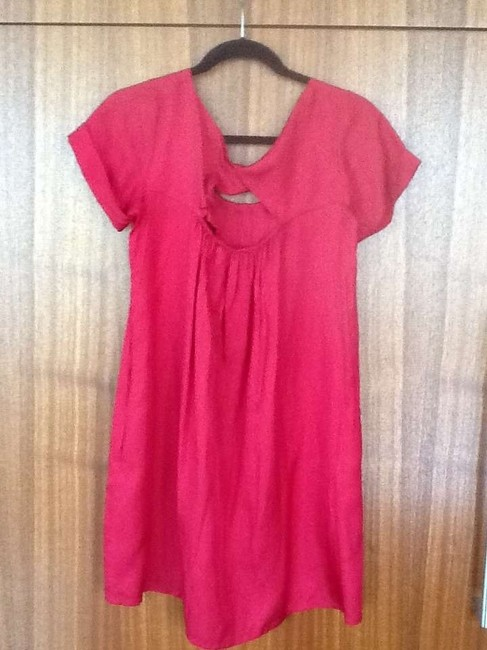 Hero & Leander short dress Red Silk Anthropologie on Tradesy