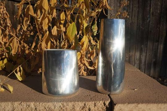 Silver 14 Modern Aluminum Vases (2 Sizes) Centerpiece