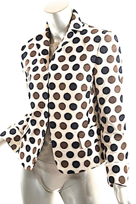 Preload https://img-static.tradesy.com/item/3585208/akris-beige-wbrown-and-white-cotton-partially-lined-polka-dot-jacket-lt-black-fr386-blazer-size-6-s-0-0-650-650.jpg