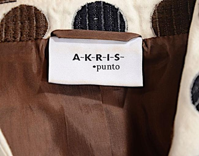 Akris Polka Dots Cotton Beige w/Brown & White Blazer Image 1