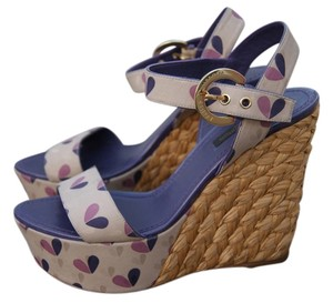 Louis Vuitton Lv Nude Base, Pink/Lavender hearts pattern Sandals