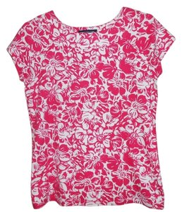 Jones New York T Shirt fushia print