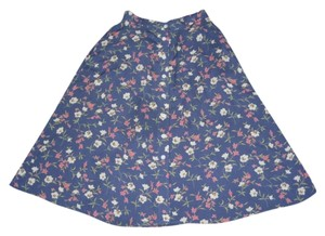 Coldwater Creek Skirt Blue Floral