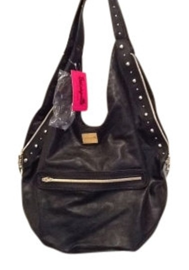 Preload https://img-static.tradesy.com/item/35861/betsey-johnson-bucket-style-embossed-studded-black-with-gold-hardware-textured-faux-leather-shoulder-0-0-540-540.jpg