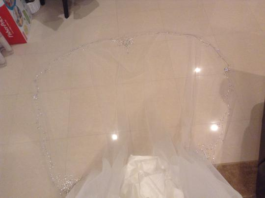 2015 Dramatic Custom Bling Crystal Cathedral Bridal Veil
